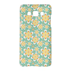 Seamless Pattern Blue Floral Samsung Galaxy A5 Hardshell Case