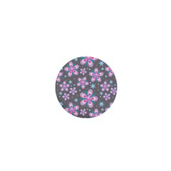 Seamless Pattern Purple Girly Floral Pattern 1  Mini Magnets
