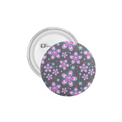 Seamless Pattern Purple Girly Floral Pattern 1 75  Buttons