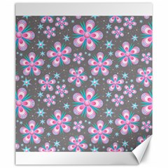 Seamless Pattern Purple Girly Floral Pattern Canvas 20  X 24
