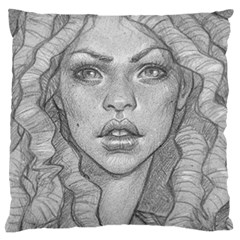 Dreaded Princess  Large Flano Cushion Case (two Sides)