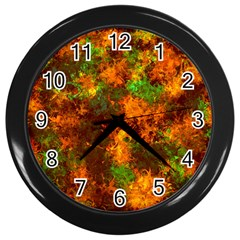 Squiggly Abstract F Wall Clocks (black)