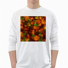 Squiggly Abstract F White Long Sleeve T Shirts
