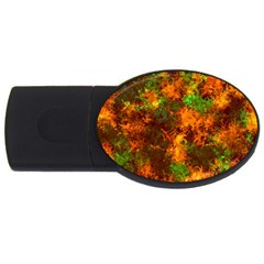 Squiggly Abstract F Usb Flash Drive Oval (4 Gb)