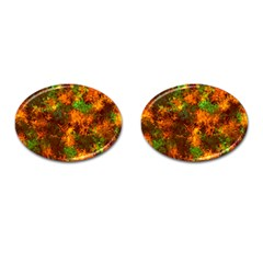 Squiggly Abstract F Cufflinks (oval)