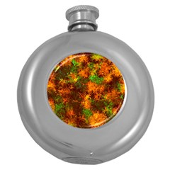 Squiggly Abstract F Round Hip Flask (5 Oz)