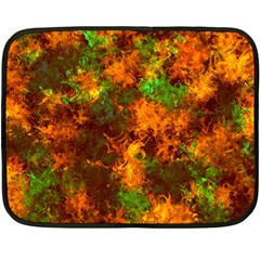 Squiggly Abstract F Double Sided Fleece Blanket (mini)