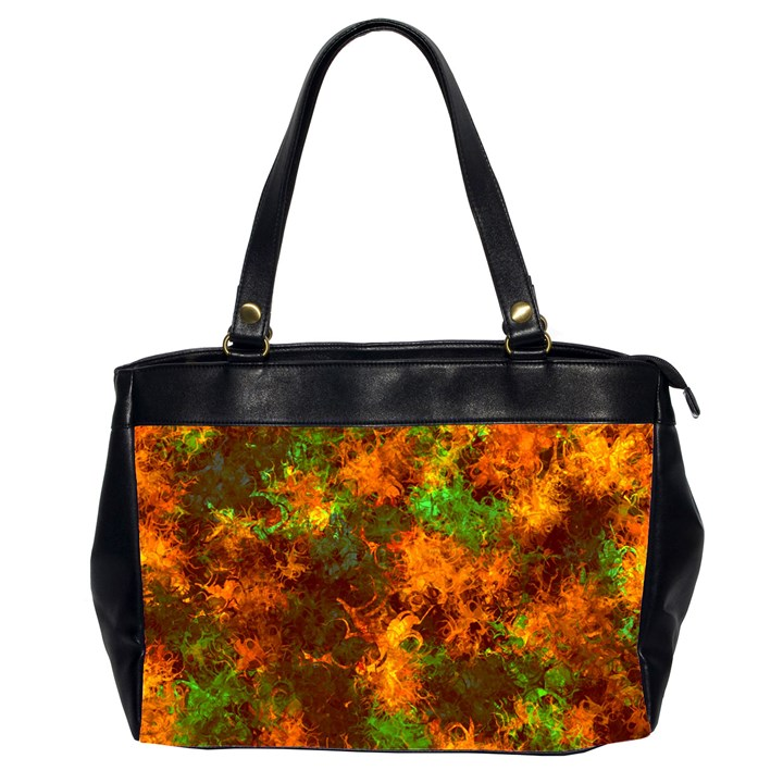 Squiggly Abstract F Office Handbags (2 Sides)
