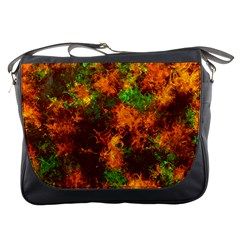 Squiggly Abstract F Messenger Bags