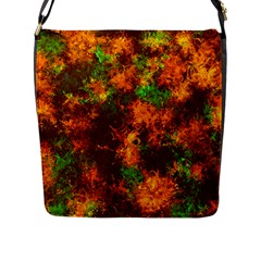 Squiggly Abstract F Flap Messenger Bag (l)