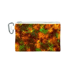 Squiggly Abstract F Canvas Cosmetic Bag (s)