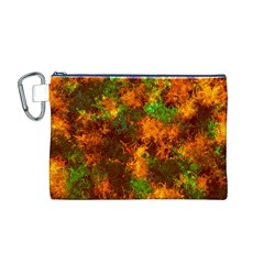 Squiggly Abstract F Canvas Cosmetic Bag (m)
