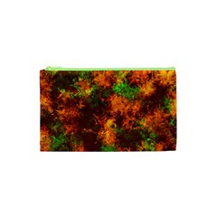 Squiggly Abstract F Cosmetic Bag (xs)