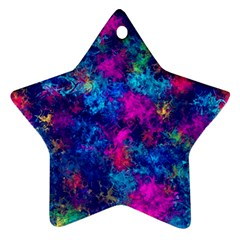 Squiggly Abstract E Ornament (star)