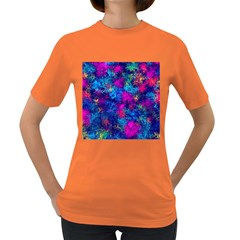 Squiggly Abstract E Women s Dark T Shirt