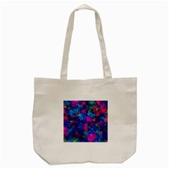 Squiggly Abstract E Tote Bag (cream)