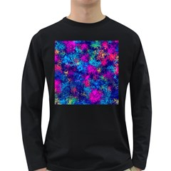 Squiggly Abstract E Long Sleeve Dark T Shirts
