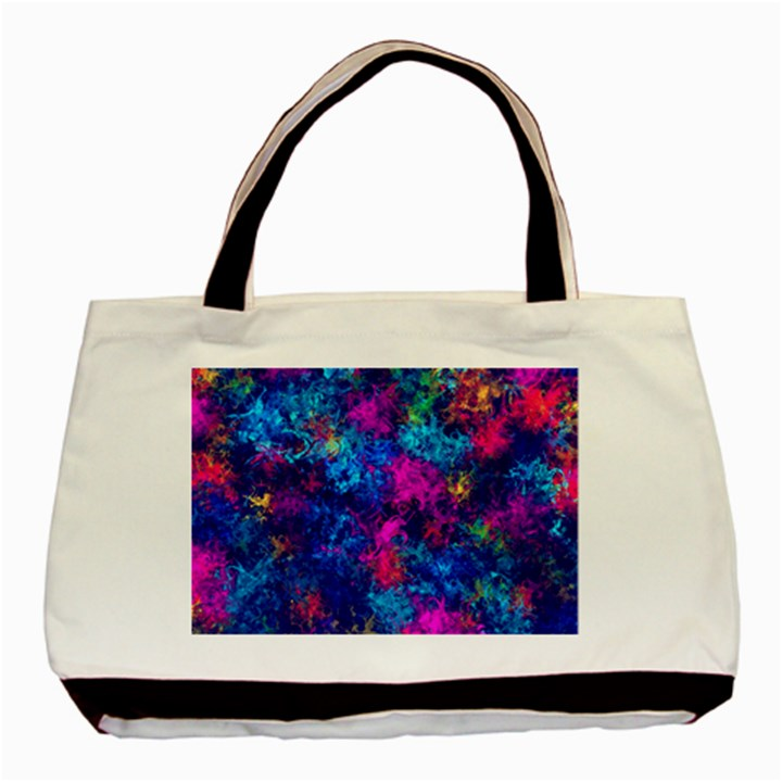 Squiggly Abstract E Basic Tote Bag (Two Sides)