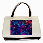 Squiggly Abstract E Basic Tote Bag (Two Sides) Back