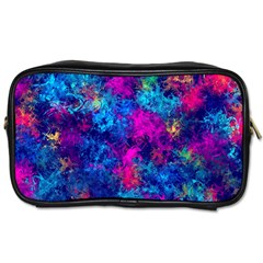 Squiggly Abstract E Toiletries Bags 2 Side