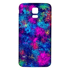 Squiggly Abstract E Samsung Galaxy S5 Back Case (white)