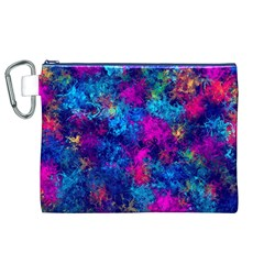 Squiggly Abstract E Canvas Cosmetic Bag (xl)