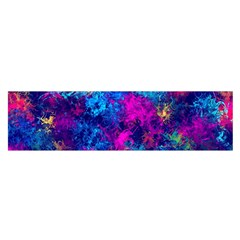 Squiggly Abstract E Satin Scarf (oblong)