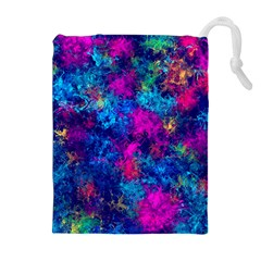 Squiggly Abstract E Drawstring Pouches (extra Large)