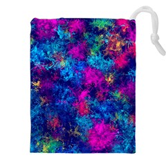 Squiggly Abstract E Drawstring Pouches (xxl)