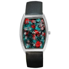 Squiggly Abstract D Barrel Style Metal Watch