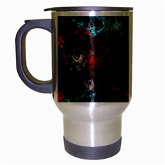 Squiggly Abstract D Travel Mug (silver Gray)