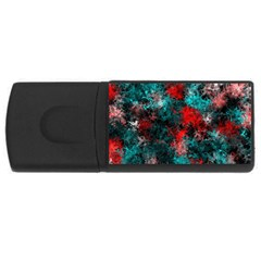 Squiggly Abstract D Rectangular Usb Flash Drive