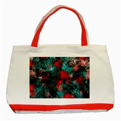 Squiggly Abstract D Classic Tote Bag (red)