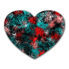 Squiggly Abstract D Heart Mousepads