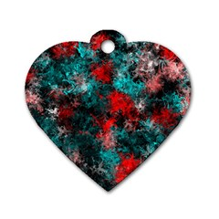 Squiggly Abstract D Dog Tag Heart (one Side)