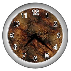 Wonderful Marbled Structure A Wall Clocks (silver)