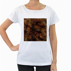 Wonderful Marbled Structure A Women s Loose Fit T Shirt (white)