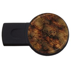 Wonderful Marbled Structure A Usb Flash Drive Round (4 Gb)