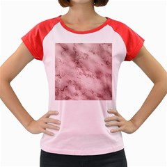 Wonderful Marbled Structure E Women s Cap Sleeve T Shirt