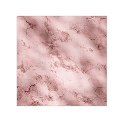Wonderful Marbled Structure E Small Satin Scarf (square)