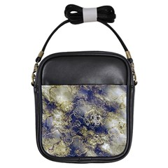 Wonderful Marbled Structure D Girls Sling Bags