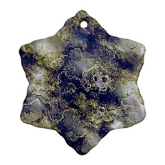 Wonderful Marbled Structure D Ornament (snowflake)