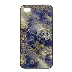 Wonderful Marbled Structure D Apple Iphone 4/4s Seamless Case (black)