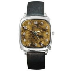 Wonderful Marbled Structure B Square Metal Watch
