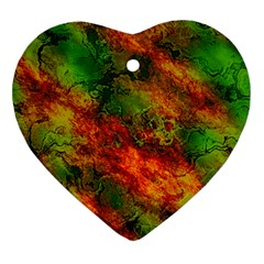 Wonderful Marbled Structure F Ornament (heart)