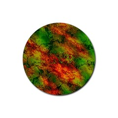 Wonderful Marbled Structure F Rubber Coaster (round)