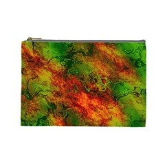 Wonderful Marbled Structure F Cosmetic Bag (large)