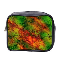 Wonderful Marbled Structure F Mini Toiletries Bag 2 Side