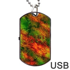 Wonderful Marbled Structure F Dog Tag Usb Flash (two Sides)