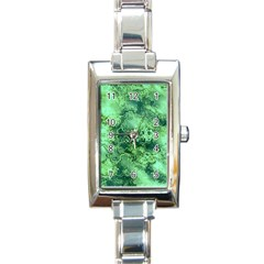 Wonderful Marbled Structure I Rectangle Italian Charm Watch